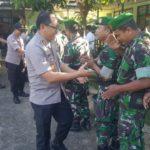 POLRES SUMEDANG POLDA JABAR ADAKAN HALAL BIHALAL DENGAN PERSONEL KODIM 0610/SUMEDANG