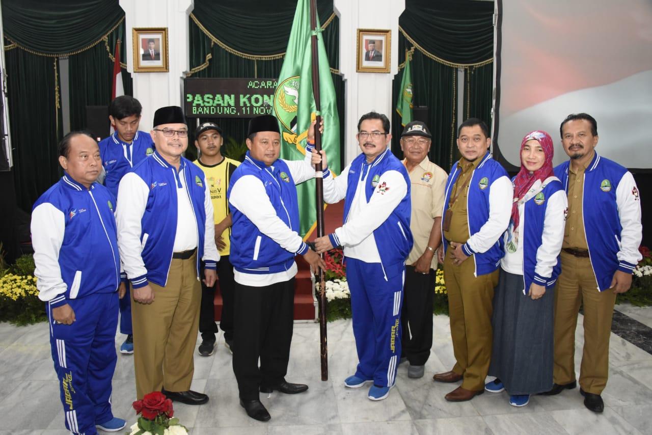Wagub Jabar  Melepas Kontingen Jabar  Yang Akan Bertanding di Pekan Olahraga Pelajar Nasional ke-15 2019