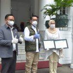 Ketua Komisi I DPRD Jabar  Mengapresiasi Bantuan Covid-19 Untuk Jawa Barat.